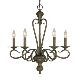 Millennium Lighting Devonshire 5-Light Burnished Gold Hardwired Standard Chandelier  via Lowes