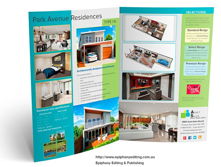 25 best Brochures \ Flyers u2013 Design Portfolio images on Pinterest - sample real estate brochure