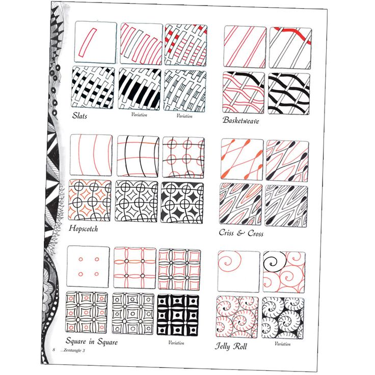 How-tos -- http://www.jerrysartarama.com/images/products/books_and_videos/zentangle/0v06118000000-st-02-zentangle-3.jpg