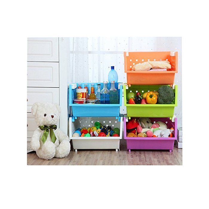 Holte 3 Baskets Kids Toy Organizer With Images Kids Toy Organization Toy Organization Baby Storage