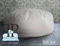 Studio Size POSEY PILLOW - The newborn poser. Puck shaped ottoman beanbag photo prop. Gray Color Bean Bag. Sale Price. $79.99, via Etsy.
