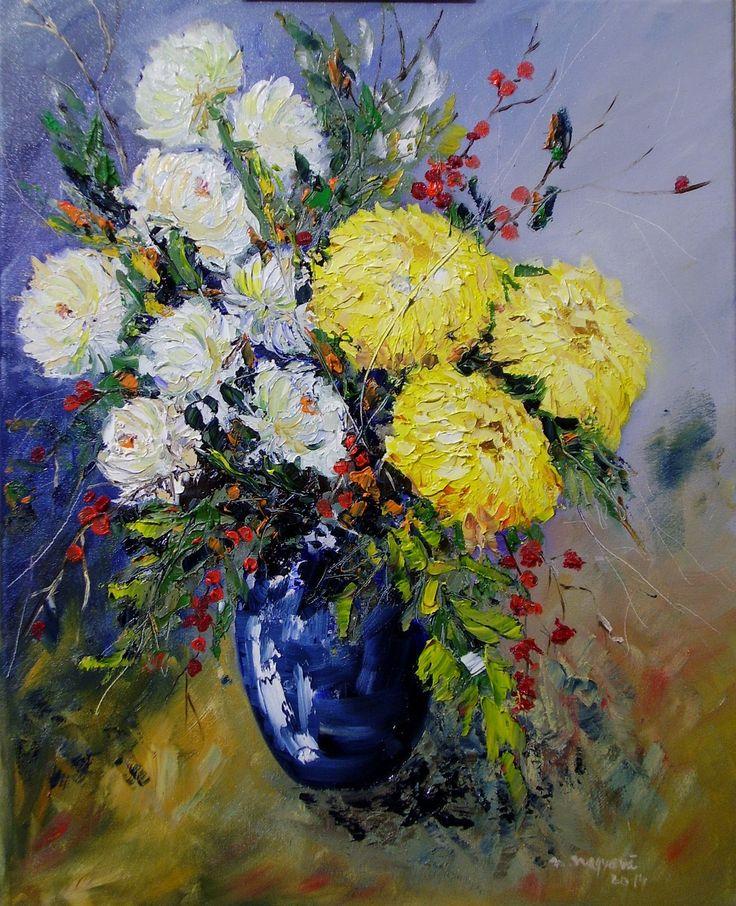 Jesenní nostalgie Olejomaľba na plátne, blind rám 40x50 cm