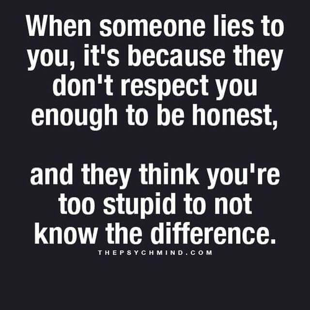"""I detest intentional, adult liars. Oh, a """"small"""" falsehood is ok? Joke's on you. Where there's smoke there's fire. The narcissist can be so good at lying he can fool a spouse for decades."""
