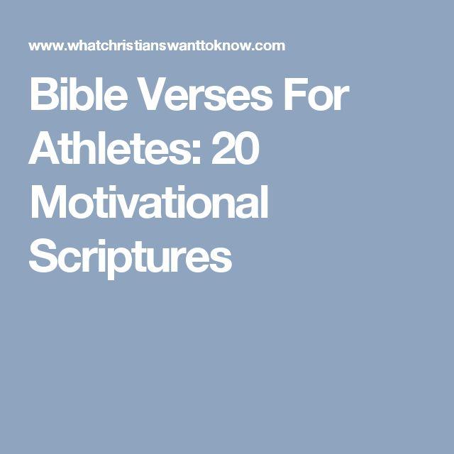 Bible Verses For Athletes: 20 Motivational Scriptures