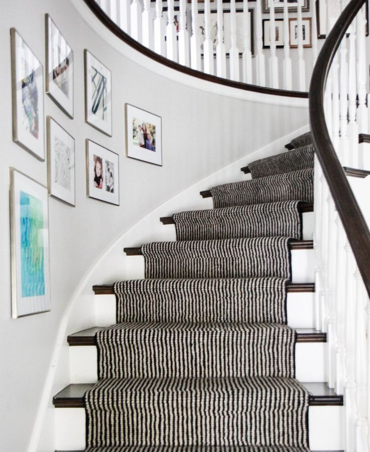 Wooden Stairs With Painted Stripes Updating Interior: 201 Best Images About Entries + Staircases On Pinterest