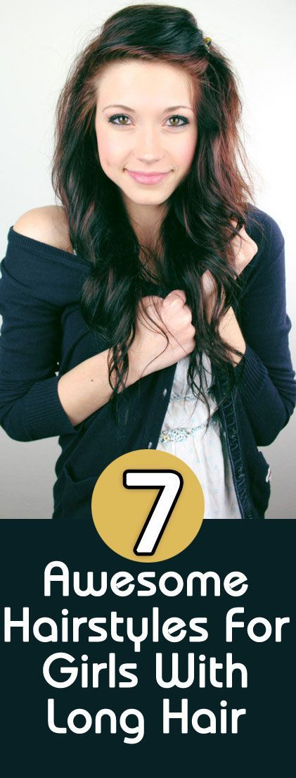 7 Awesome Hairstyles For Girls With Long Hair : So here are a few easy and interesting hairstyles to help you style your long hair, while keeping them open or tied up.