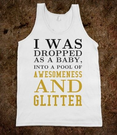 thats what happened to me but not in glitter :)