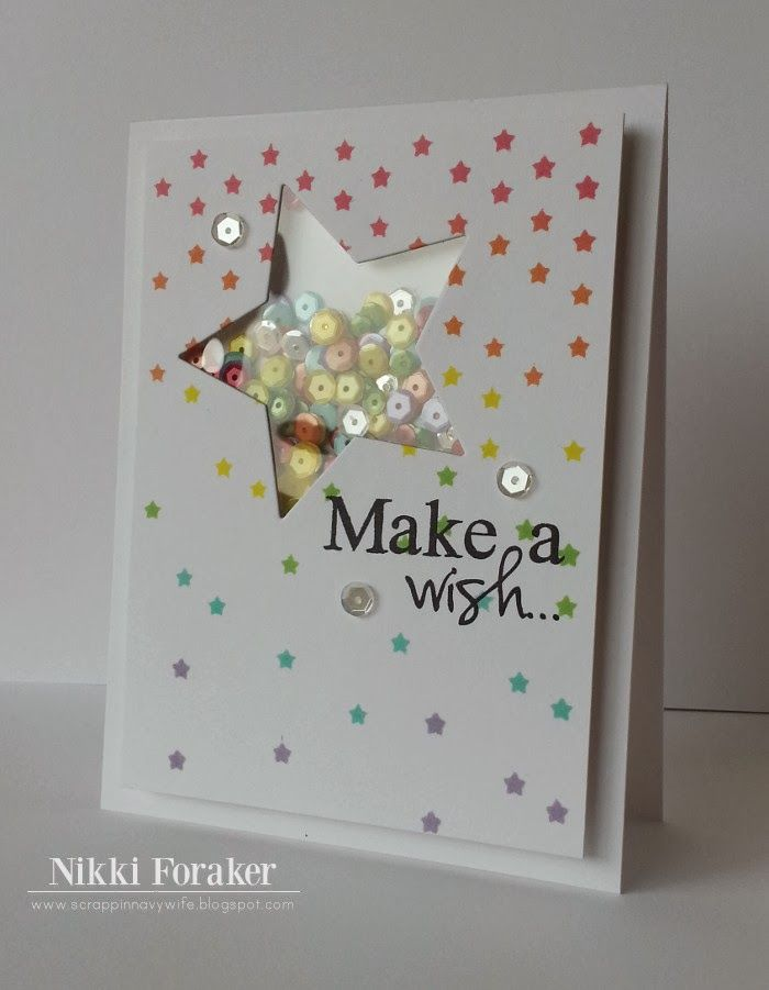 make a wish shaker card