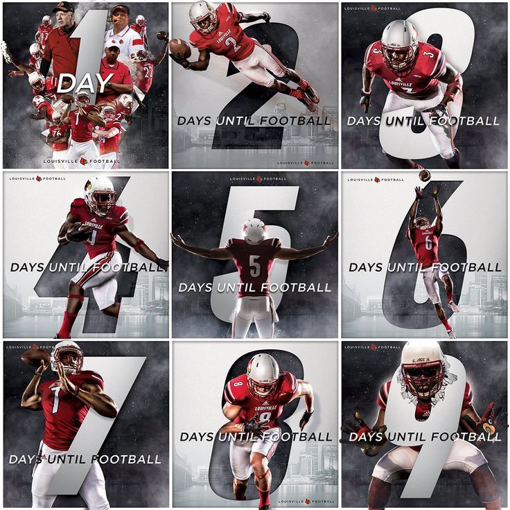 2015 Season Countdown Graphics on Behance. Sports design: