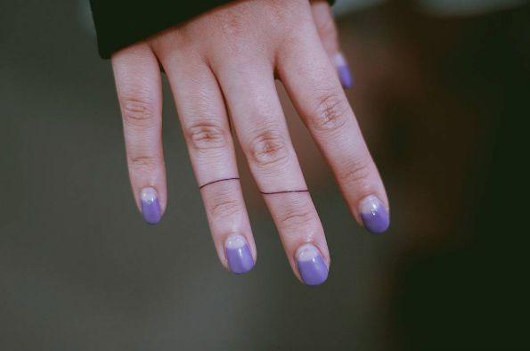 Simple line finger tats by Seoeon