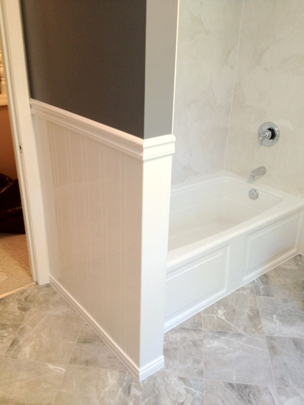 White Beadboard Acrylic Wainscoting In Bathrooms In 2019