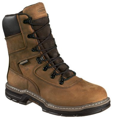 Wolverine Marauder 8'' Waterproof Insulated Work Boots for Men - Brown - 11.5 XW