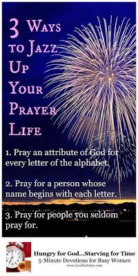 Sometimes our prayer lives need a little something to spice them up. In this…