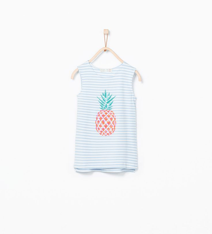 Fruit print t - shirt with sequin embroidery - T - shirts - Girl (3 - 14 years) - KIDS | ZARA Portugal
