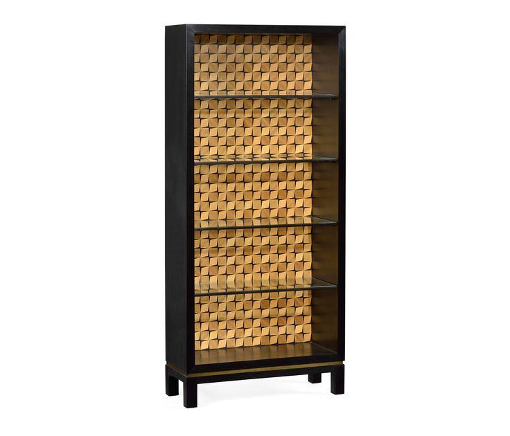 Black painted cabinet with interior geometric shape #JCmodern #jonathancharles #jonathan_charles_russia #jonathancharlesrussia #jonathancharlesfurniture