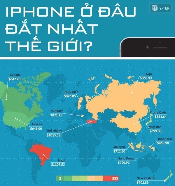 Nước nào bán iPhone đắt nhất thế giới Japan, Iphone cost