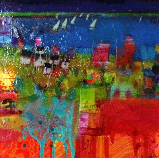 Francis Boag, Mearns Coast. Mixed Media 10x10 | Scottish Contemporary Art