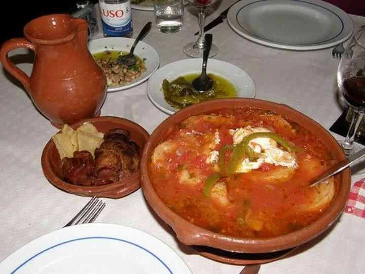 Sopa de tomate a horta Alentejana