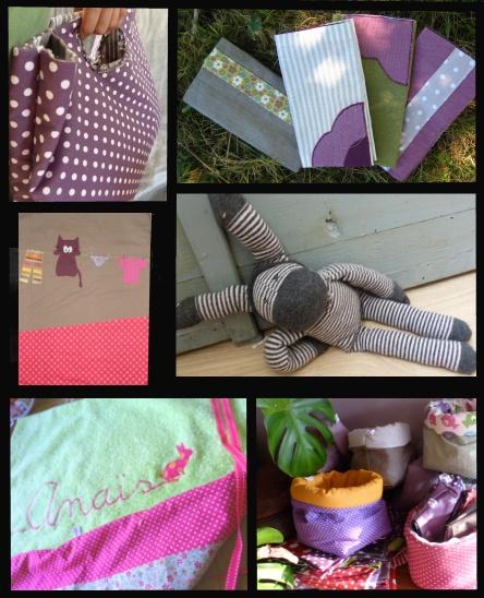 petit éventail des créations des pois gourmands, objets en tissu faits main à paris  lespoisgourmands.wordpress.com