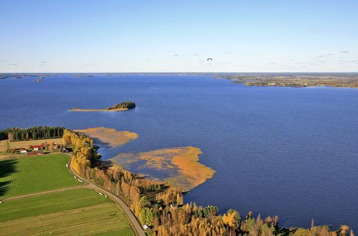 Meteorite crater lake Lappajärvi. South Ostrobothnia province of Western Finland. - Etelä-Pohjanmaa.