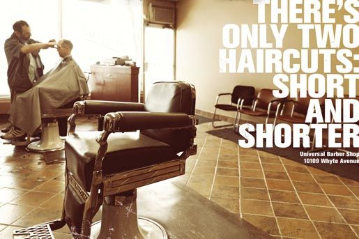 Universal Barber Shop Haircuts Short & Shorter