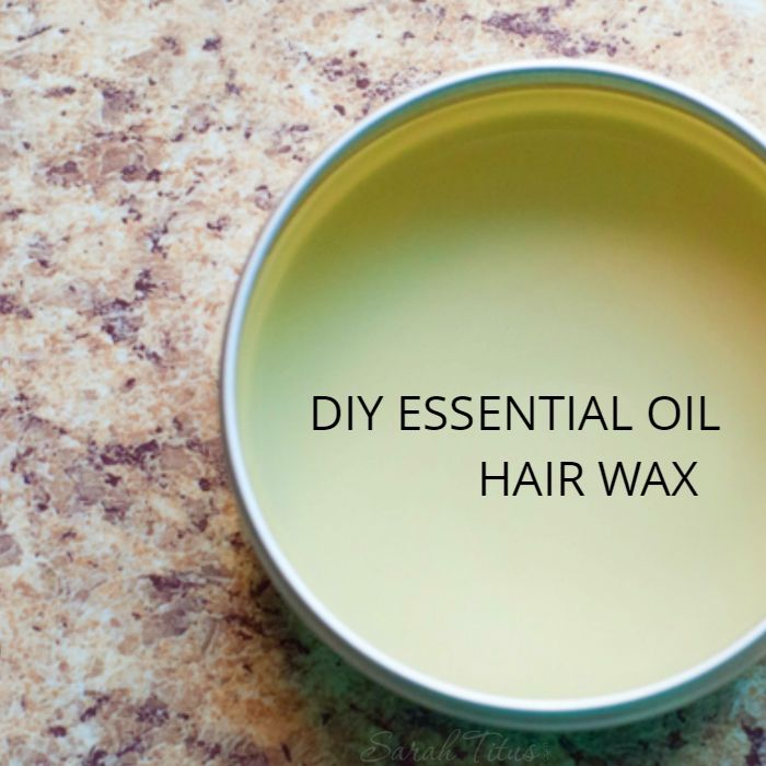 Add texture and style to your hair with this quick and easy to make DIY essential oil hair wax!