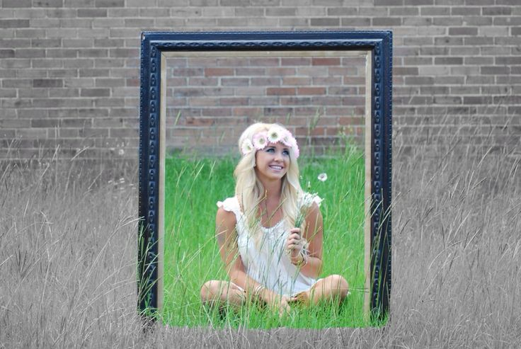 Senior portrait picture ideas blonde curly wavy hair curls waves dandelions hippy hippie flowers boho