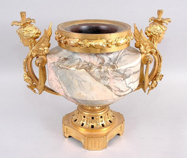 A VERY GOOD QUALITY FRENCH MARBLE AND ORMOLU TWO