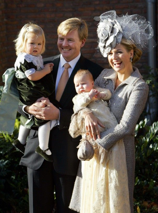 List Of Famous Princesses | Prince Willem-Alexander holds Princess Catharina-Amalia while Princess ...