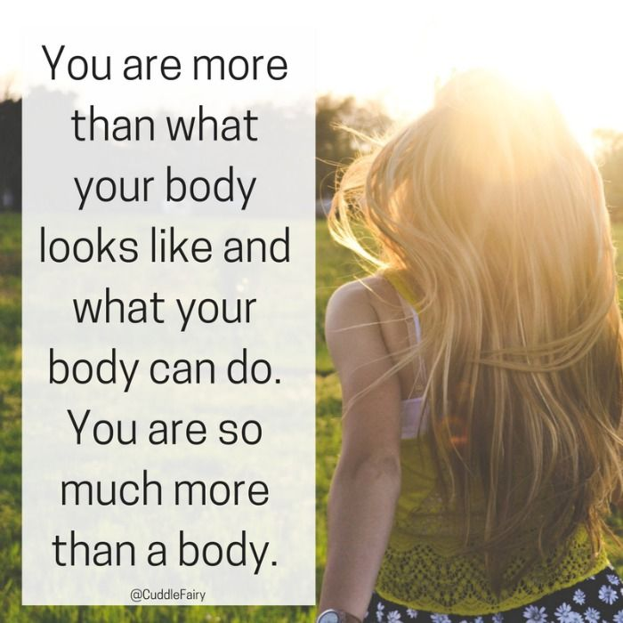 Positivity Week 1: You are More than Just your Body