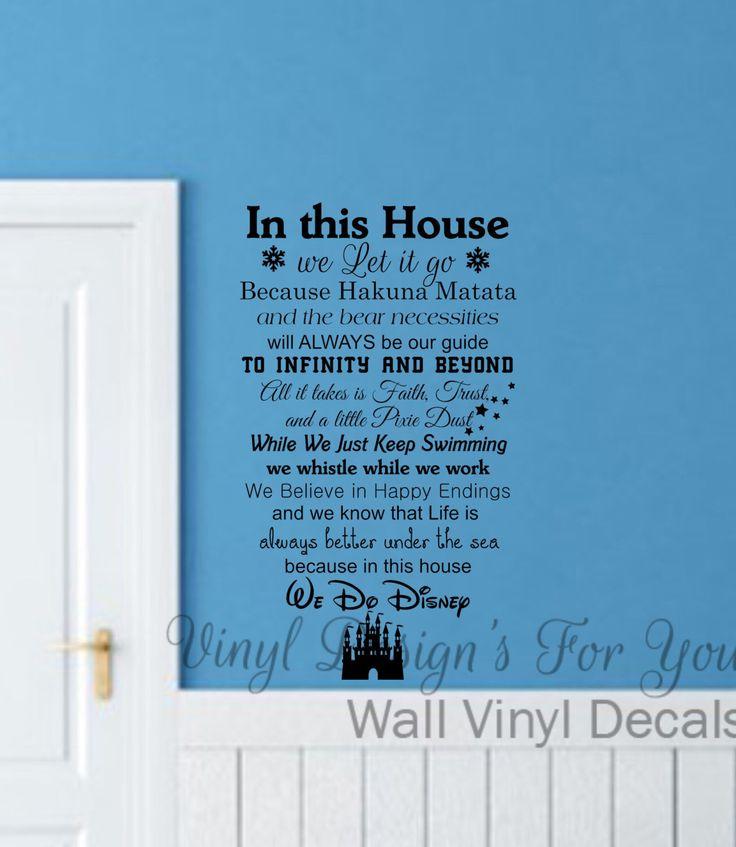 We Do Disney, Wall Decal,Wall Words, Wall Saying, Wall Decor,