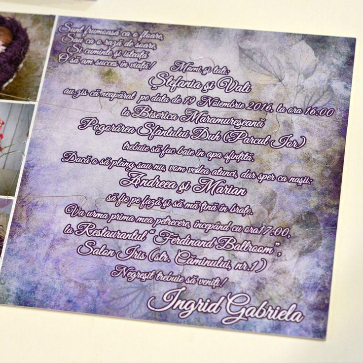 Invitatii Puzzle Cu Trei Fotografii Invitatie Nunta Botez Personalizata