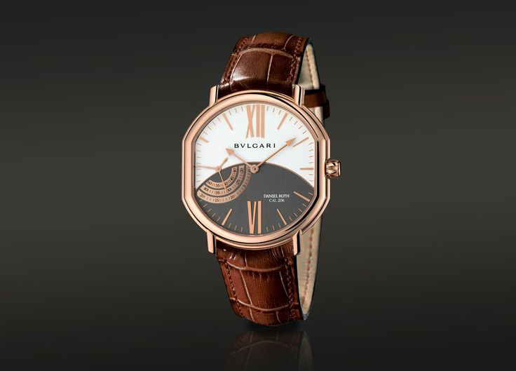 Bulgari DANIEL ROTH PETITE SECONDE, manual watch with an 18kt pink gold case. BRRP44C14GLPS