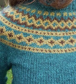This sweater is knit in the traditional Icelandic Lopapeysa style. The body and sleeves are worked in the round from the bottom up and are then joined together to form a yoke i.e. the circular patterned area around the shoulders. The body is waisted and short rows are used at the neck to provide a comfortable fit. Léttlopi is a fantastic yarn to work with. It's exceptionally warm and comes in a wide range of beautiful colours.