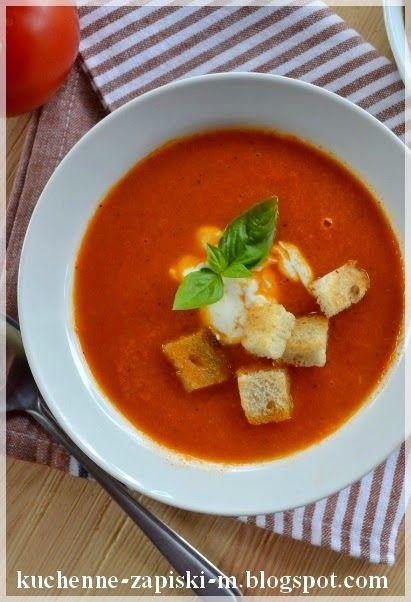 Kuchenne Zapiski M.: Zupa krem z pieczonych pomidorów.
