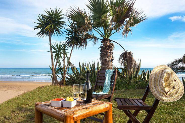 Our villa Zafira is right on the beach - heaven!