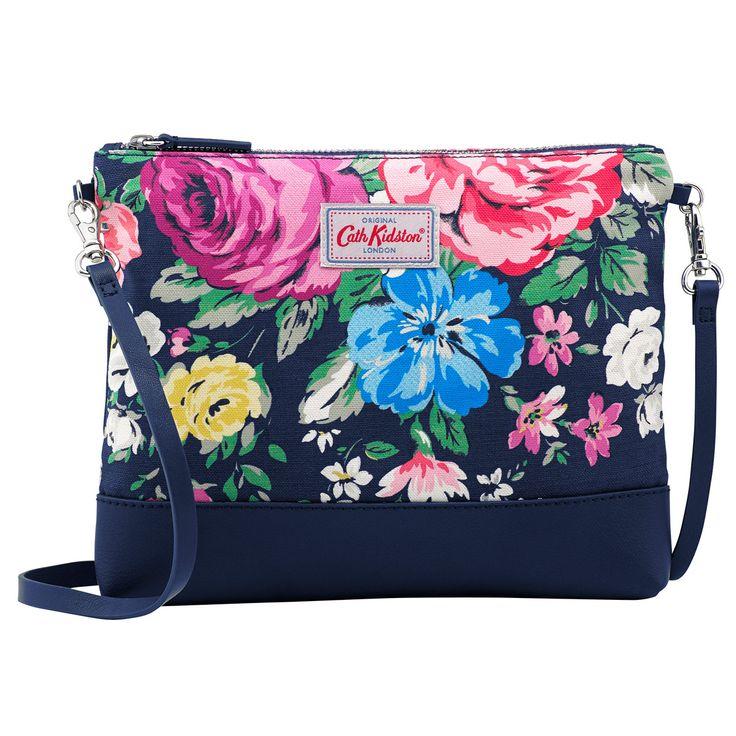 Hampstead Rose Canvas & Leather Cross Body Bag | Cross Body Bags | CathKidston