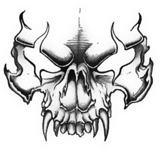 Evil Skull Drawings