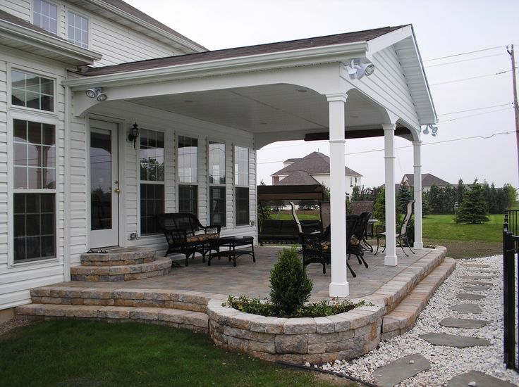 covered back porch--build off detached garage perhaps?