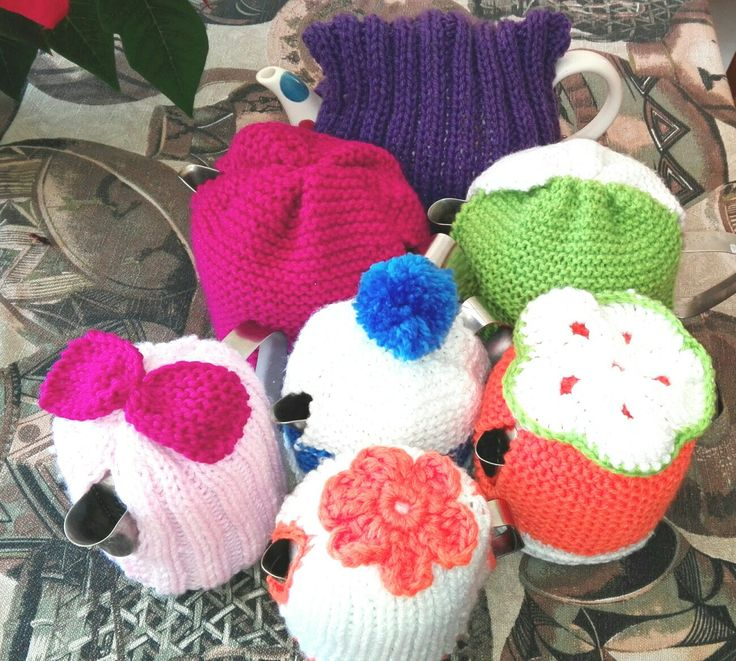 Knitted teapot cozies for a friend