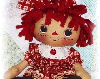 Rag Doll PATTERN PDF pattern Sewing Cloth Doll by OhSewDollin