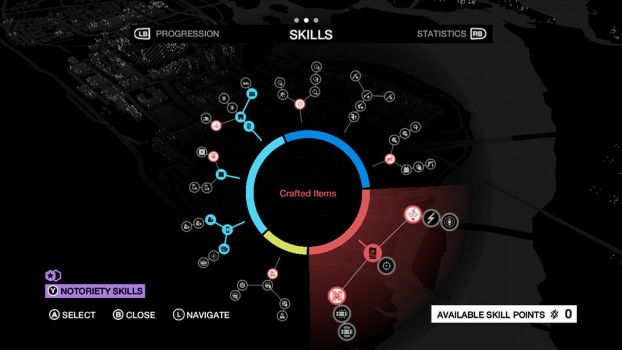 Watch Dogs Skill Tree Crafted Items