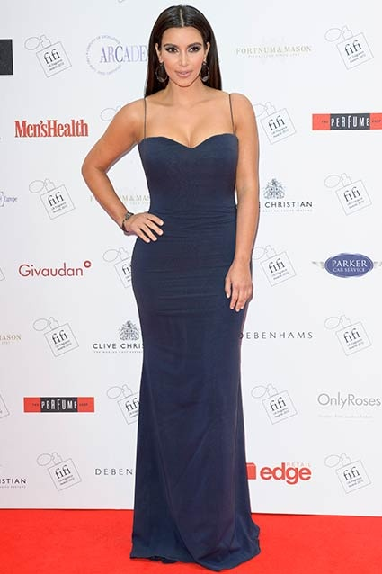 Kim Kardashian dons a sleek look at the FiFi UK Fragrance Awards 2012 on May 17, 2012 in London, England. Dorothy Durbin, Designer