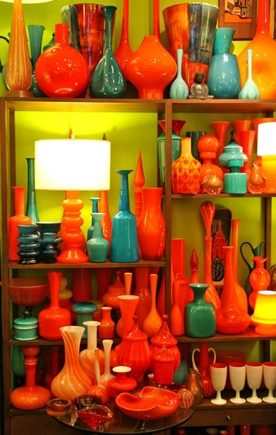 50s blown glass--the colors are what I'm digging here.