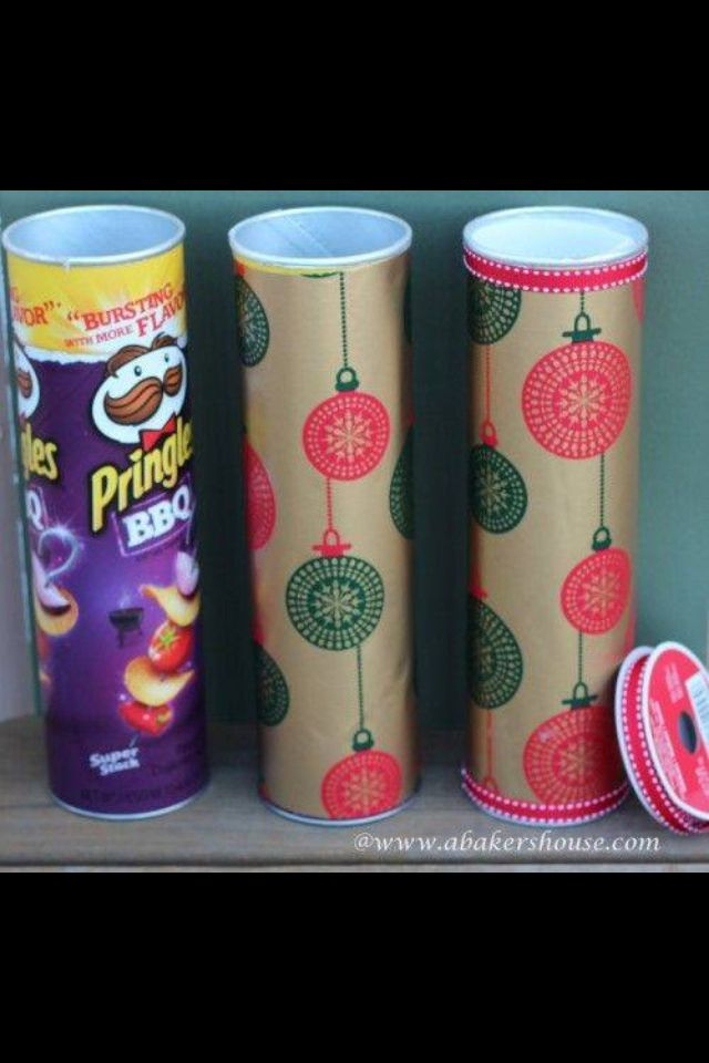 Cookie gifts tins reused pringle chips !
