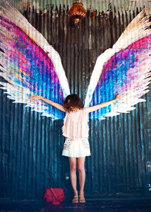 Street Art...'Angel Wings' by Colette Miller, Los Angeles.