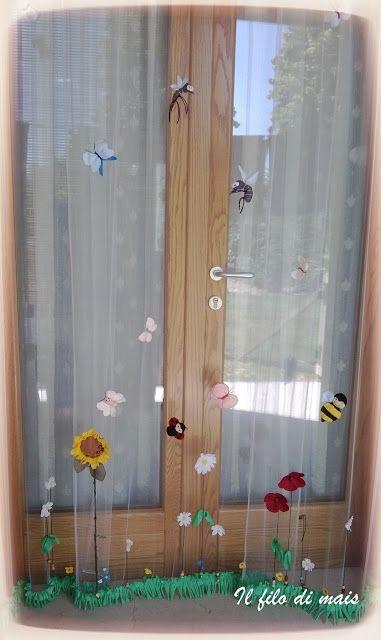 Il filo di mais di Chiara Gloria e Daniela: Cucito creativo:Tenda zanzariera decorata