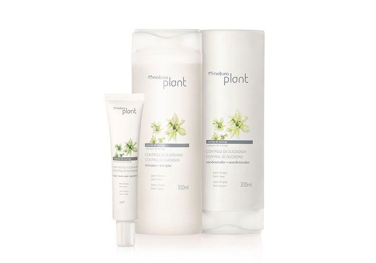 Conjunto Natura Plant Controle de Oleosidade - Shampoo + Condicionador + Loção Reguladora