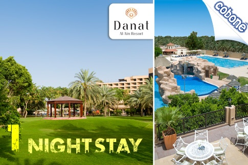 Enjoy a romantic night at Danat Al Ain Resort including a 7-course Dinner under the stars, a Massage and Breakfast for USD 327 per couple (Value USD 595) – Rediscover Romance!