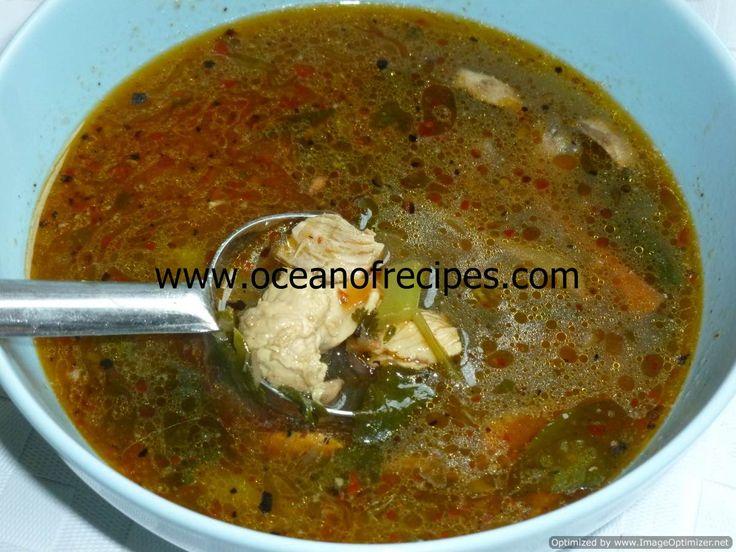 Tom yum gai soup with nam prik pao